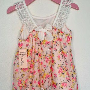 Little Lass Girl's 02 Piece Set Top+Pants